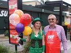 Michelle Kath and Gympie Mayor Ron Dyne.