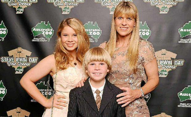 GUESTS OF HONOUR: Bindi, Robert and Terri Irwin attend the Steve Irwin Gala Dinner on Saturday.