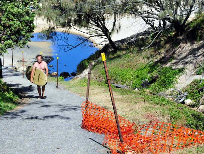SHORING UP ACCESS: Access 27 at Sunshine Beach will be closed for a month.