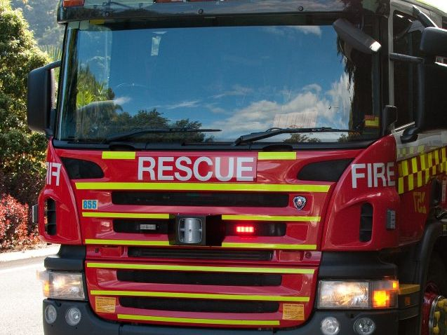 A fire started in a chimney at Tweed Heads