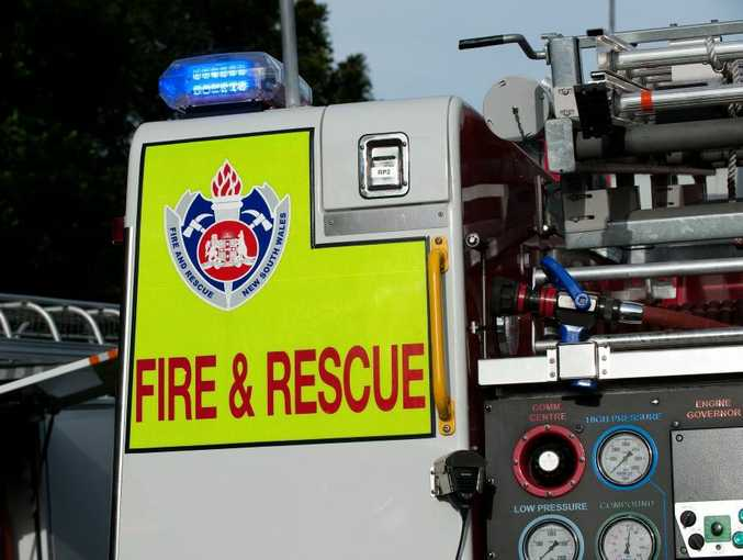 NSW State Emergency Services Fire Rescue Truck.