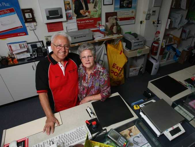 Moffatt Beach Postmasters Jack and Susan Manasserian are leaving after 12 and half years.
