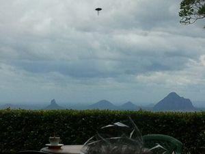 Mooloolah woman Greta Kleinhans' photo. Is it a UFO?
