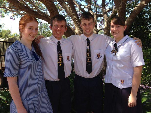 St Joseph's award winners (from left) Georgia Beck, Matt Brennan, Timothy Hess and Rachel Davis.