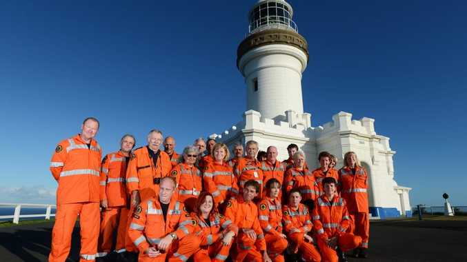 SES Members from the Ballina and Mullumbimby SES Units. Pictured at The Cape Byron Lighthouse.