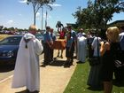 The sacred relic of St Francis Xavier arrives at Xavier Catholic College in Hervey Bay.