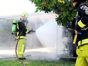 Volunteer firefighter hurt in rifle range shed fire