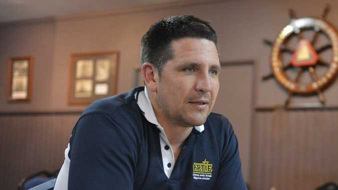 Former NRL Player Steve Price spoke about the CQ NRL bid in Gladstone. Photo Christopher Chan / The Observer