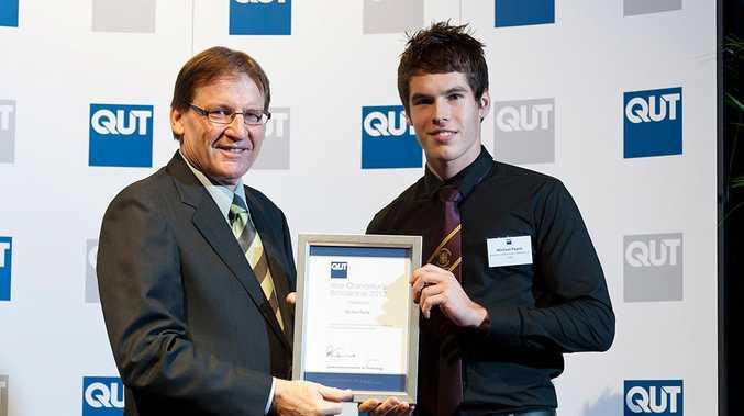 Ipswich Grammar School 2011 graduate Michael Payne was among the QUT scholarship recipients for 2012.