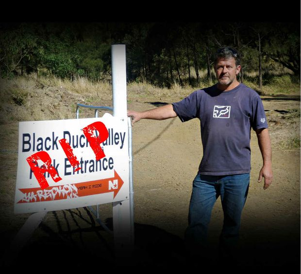 GATES CLOSED: Owner of Black Duck Valley Moto Park, Steve Langdon, re-opened the gates for business on June 9. Now it's closed again, maybe for good.