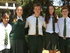 Centenary Heights State High School award winners (from left) Maisha Rahman, Bethany Rognoni, Lachlan Webb, Ashleigh Gehrig and Adam Little.