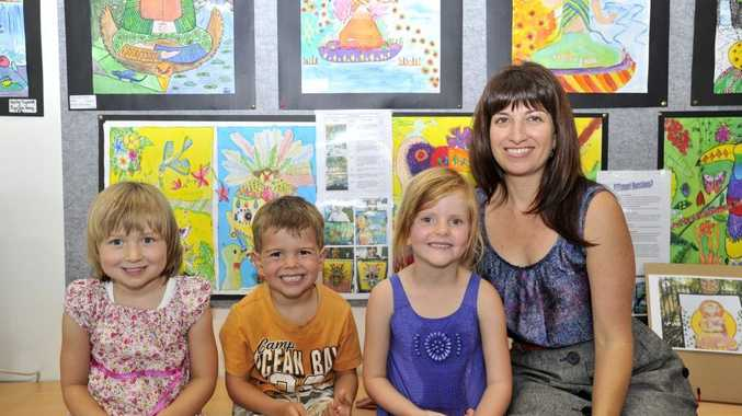 From left, Grace Gallagher, Jett Fox Beck, Zoe Pietzsch and Katie Brown, at the Lennox Library Photo Mireille Merlet-Shaw / The Northern Star