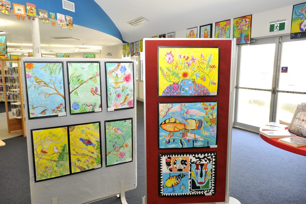 Art work on display at the Lennox library Photo Mireille Merlet-Shaw / The Northern Star