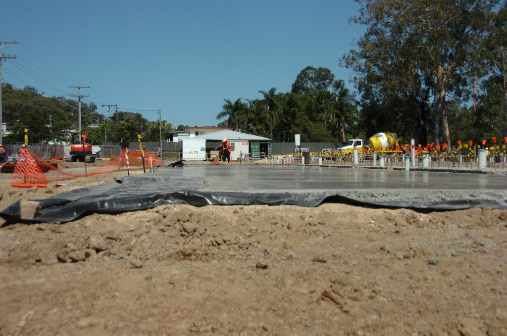 Construction continues for the new Gladstone GP Super Clinic at the Windmill Centre.
