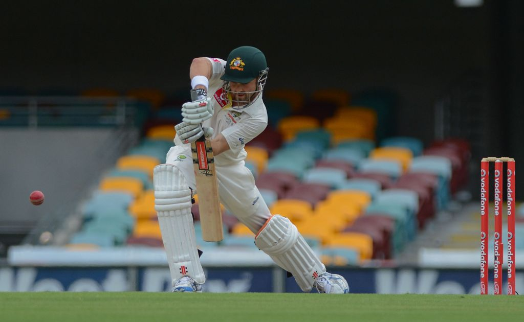 Ed Cowan in action during day 4 of the first test - Australia v South Africa at the Gabba, Brisbane.