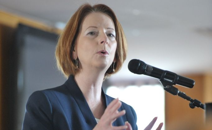 Julia Gillard at Ipswich Turf Club.