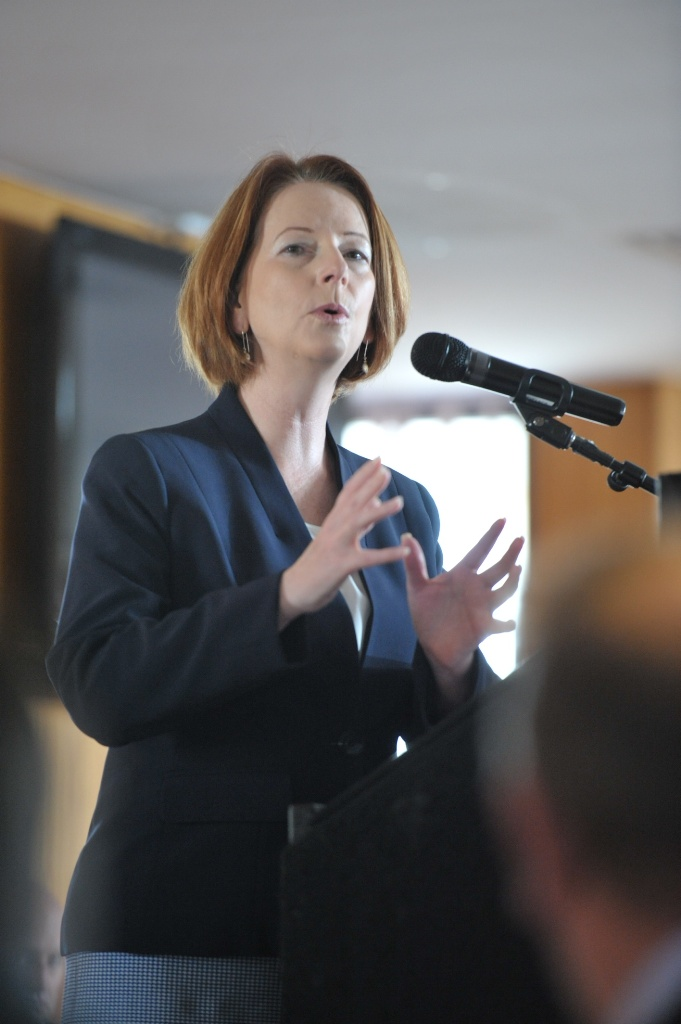 Prime Minister Julia Gillard told her Caucus colleagues Labor would continue to focus on education and easing cost-of-living pressures between now and the election.