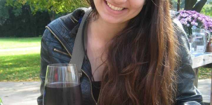 Jessie Gretener enjoying a sauser in Switzerland.