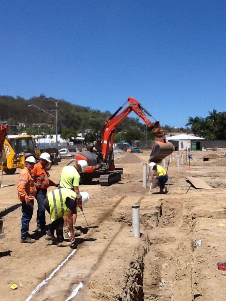 Work gets underway at the Gladstone GP Super Clinic site.