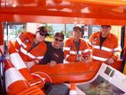 Members of Gerry Meijer's team in the Hervey Bay SES about to set up for traffic duty.