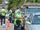 Police conduct a traffic blitz.