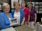 ( from left ) Lorna Helwig, Kay Ashmore, Susan Murphy and Yvonne McErlean. Former and present staff celebrate the 50th anniversary for the Myer Toowoomba store. Photo Nev Madsen / The Chronicle