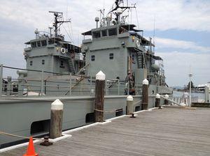Ballina gives Navy ships a last hurrah