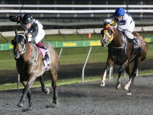 CLEAR RUN: Jockey Masayuki Abe rides Are Tee Ess to victory at Clifford Park on Saturday.