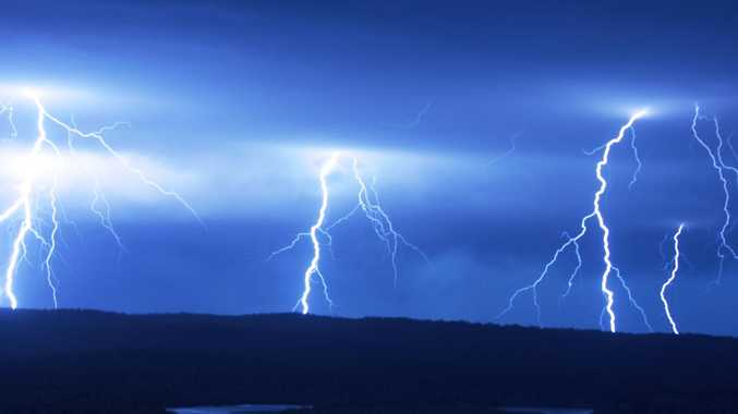 Nearly 1000 customers lost power after a lightning strike at Miriam Vale on Sunday night. (File photo)