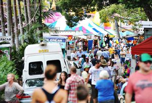 Big crowds at this year&squot;s Bangalow Show.
