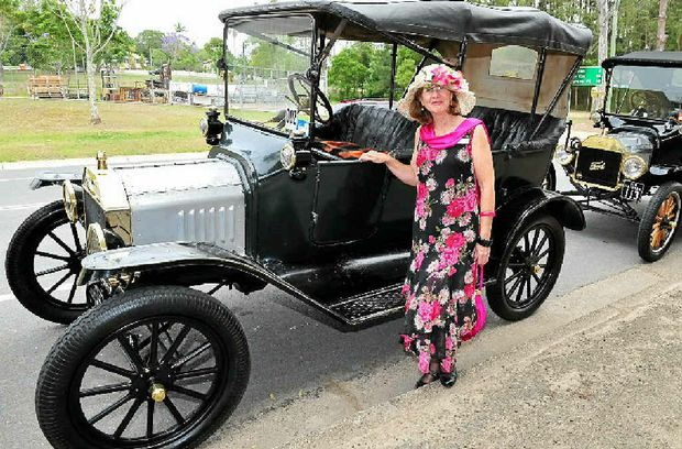 Irene Hill from Hattonvale with her 1915 Model T at Pomona.