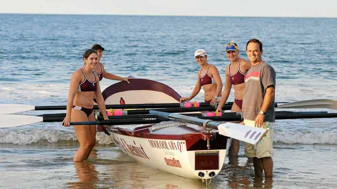 BEST ON THE GLOBE: Sweep Brendan Western and the Mooloolaba women's surf boat crew have reaped the rewards after an intensive training regime.