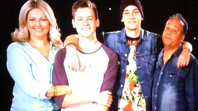 Samantha Jade's proud family as shown on Seven's The X Factor.
