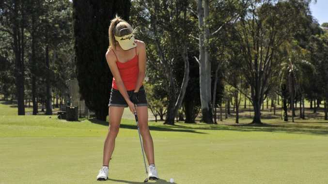 Claudia Hewett (14) of Lismore at Lismore Golf Club Photo Mireille Merlet-Shaw / The Northern Star