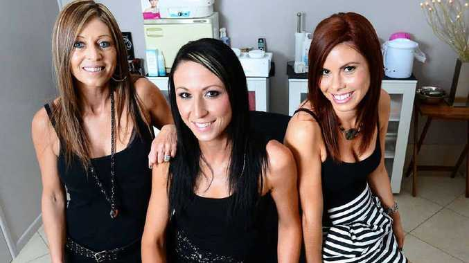 BEAUTY TRIO: De Ja Vu Hair, Nails and Beauty owner Fiona Litzow (left) and hairdressers Katie Upton, and Taryn McLaren (right) at their salon.