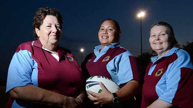 POSITIVE OUTLOOK: Marilyn Levao (secretary) with her daughter Tamara Levao (president) and Linda Halyday (treasurer) are the new West End Bulldogs all-female committee for the 2013 season.