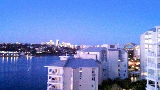 The apartment with Sydney Harbour Bridge views.