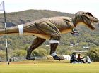 Clive's giant vision unveiled as Jeff the dinosaur on loose