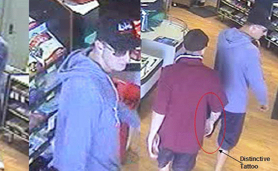 Police are seeking public assistance to identify two men involved in an armed robbery at Mount Coolum IGA.