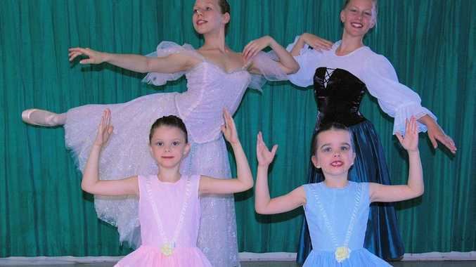 Students of Gladstone Dance Academy and Amber Wieland School of Dance are excited to present their 2012 Dance Showcase on November 24, 2012. Front (L-R): Katerina Dumpleton and Sasha Carter; Back (L-R): Madison Wieland and Anke Bezuidenhout.