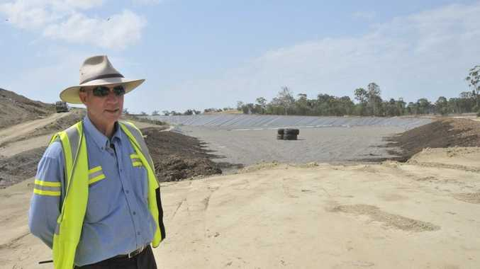 Gladstone Regional Council waste services coordinator Mark Dowley at Benaraby Waste Landfill.