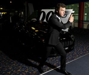 Nick Martinelli gets swept up in James Bond, Skyfall fever at Birch Carroll & Coyle Grand Central Cinemas.  Photo Dave Noonan / The Chronicle