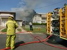 Fire fighters were called to a shed which caught fire in Hadgraft Street. Photo: Chris Ison / The Morning Bulletin