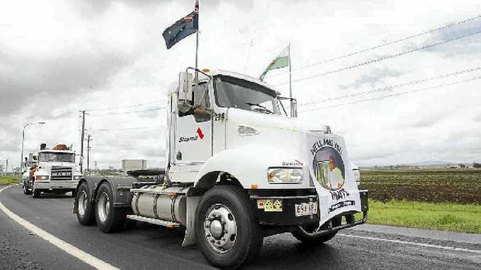 PAYING RESPECTS: The annual Lights on the Hill convoy heads to Gatton to commemorate the many lives lost in the industry. The convoy is gearing up again for next year's event.