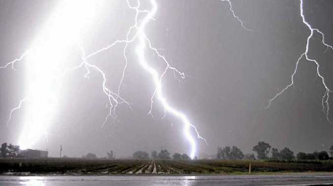 HEAVY HITS: The skies of Gatton lit up as large-scale storms struck last weekend.