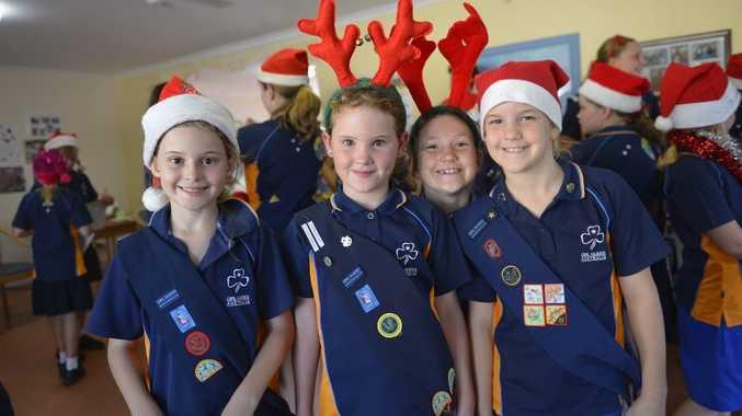 Kaitlyn Henry, 8, Samara Hansen, 8, Ella Grundy, 7 and sister Jorja, 9.