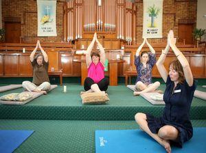 Christians breathing deep as meditation enters church