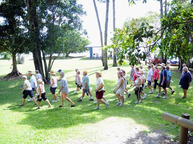 The Hervey Bay Ramblers starting their Sunday morning walk.