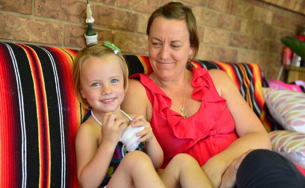 Alicia Stanley with daughter Sakura Ennis, 2, who was born prematurely.