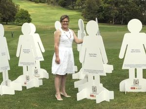 Life-sized cut outs to spread message of peace